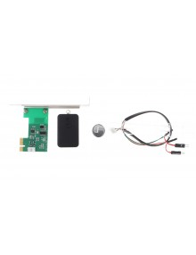 PCIe Card Adapter + Wireless Remote Controller Lock for PC