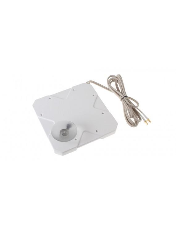 W435 35dBi Dual CRC9 Omni 4G Antenna w/ Suction Cup