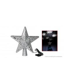 Christmas Tree Top Light Star Projector Lamp Christmas Decoration (UK)