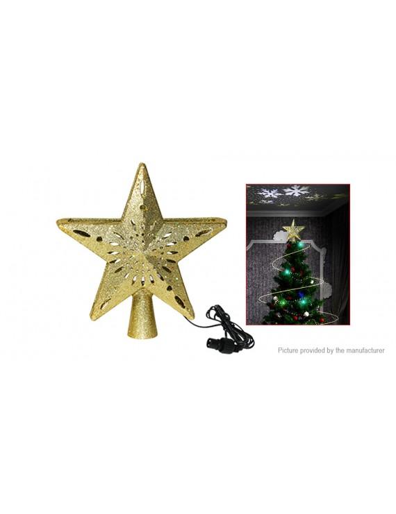 Christmas Tree Top Light Star Projector Lamp Christmas Decoration (US)