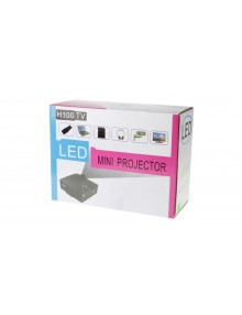 H100 100LM LCD 640*480 Resolution 400:1 Contrast Ratio Mini LED Projector
